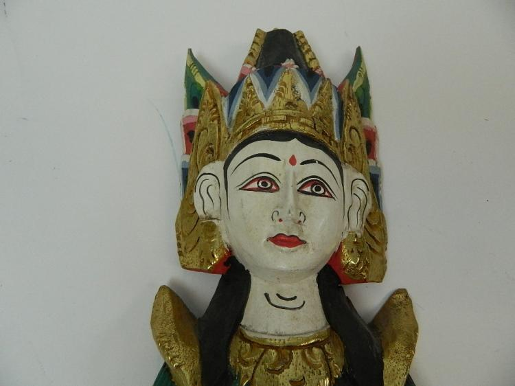 Lot 44: Wooden Indonesian Temple God Wall Hanging