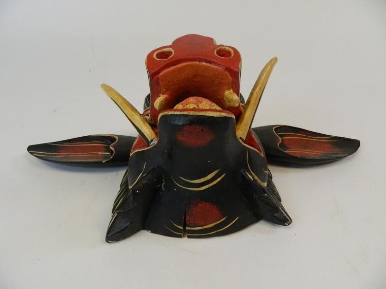 Lot 45: Childs Indonesian Colorful Pig/Hog Mask