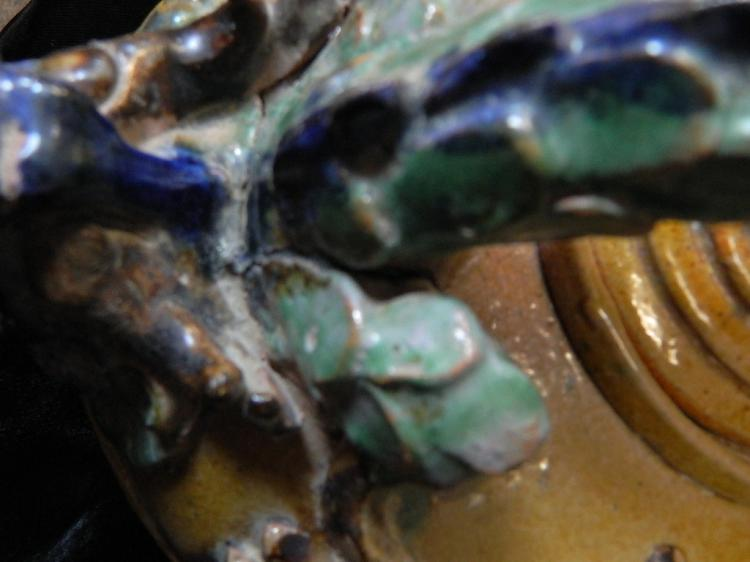 Lot 48: 20th Century Chinese Dragon Pottery Tea Pot