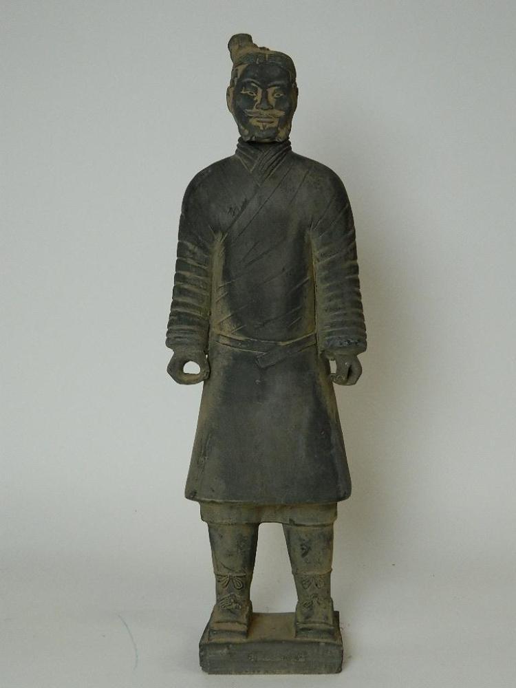 """18.5"""" Terracota Warrior Emperors Robed Warrior"""