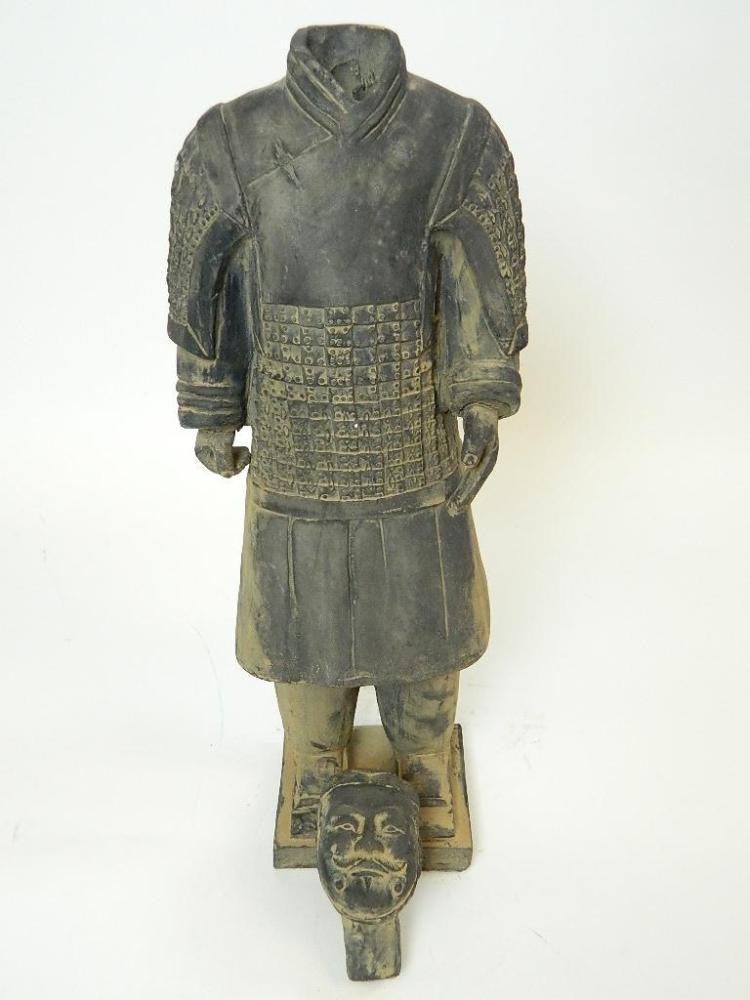 "Lot 54: 19.25"" Terracota Warrior- Emperor Lieutenant"