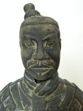 "Lot 55: 18"" Terracotta Warrior -Emperor Armored Warrior"