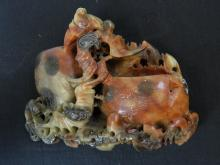 """Lot 56: 7"""" Chinese Soap Stone Decorative Animal Carving"""