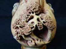 "Lot 66: 5"" Chinese Carved Ornate Soapstone Vase"