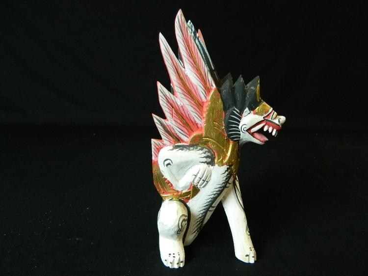Lot 67: Wooden Indonesian Carved Dragon