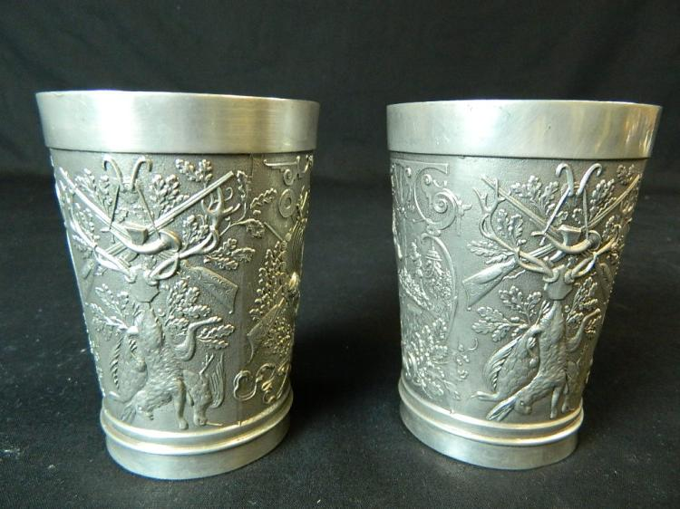 Lot 69: Wilton Pewter Tray with 2 Pewter Cups