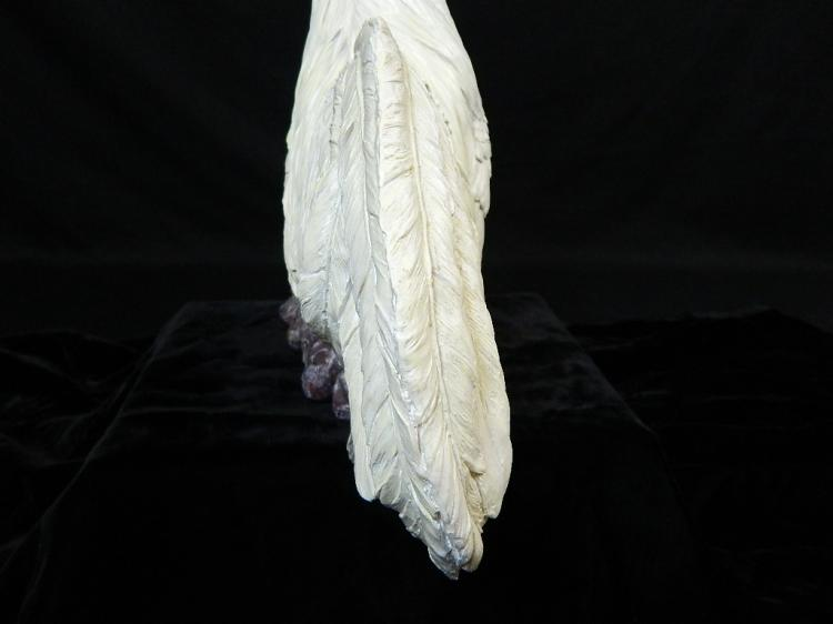 Lot 71: First Place County Fair White Resin Rooster