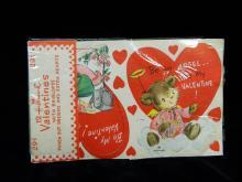 Lot 72: Antique Hallmark Expandable Valentine Cards