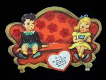 Lot 73: 5 1930's Antique Valentines Day Cards
