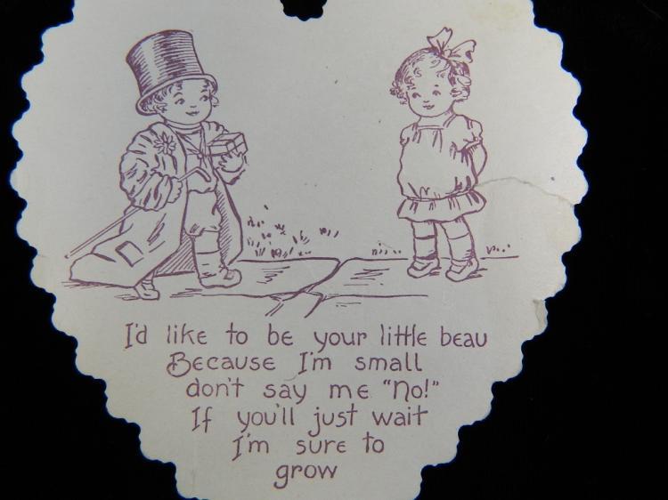 Lot 74: 5 Lace Antique 1930's Valentine Cards
