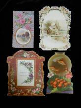 Lot 78: 4 Vintage Greeting Cards
