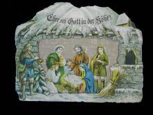 Lot 80: Antique German Nativity Christmas Card