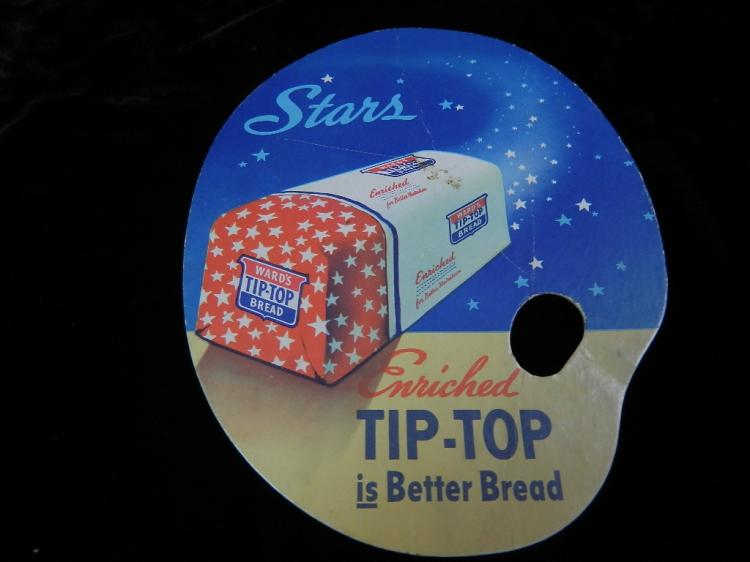 2 Vintage Fans Tip Top Bread / IGA Super Market