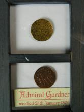 Lot 89: Sunken Treasure Coins from Admiral Gardner