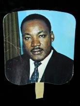 Lot 90: 4 Political Items- Martin Luther King Jr. Fan 1972