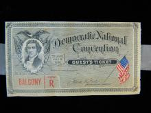 Lot 98: Democratic National Convention Guest's Ticket