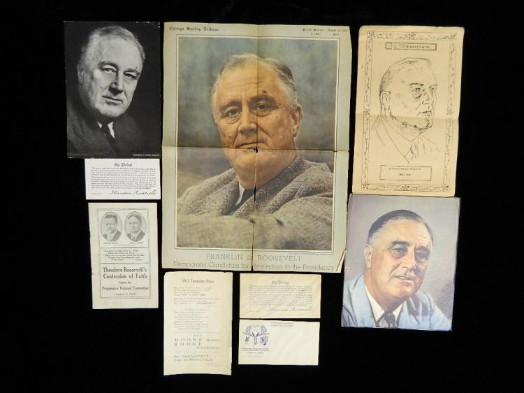 Lot 99: A Collection of the Roosevelt's Memorobilia