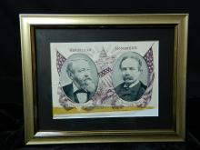 Lot 100: A Pair of 1892 Framed Political Nominees Photos