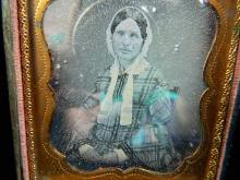 Lot 101: Gold Daguerreotype Woman - Civil War Photo Picture