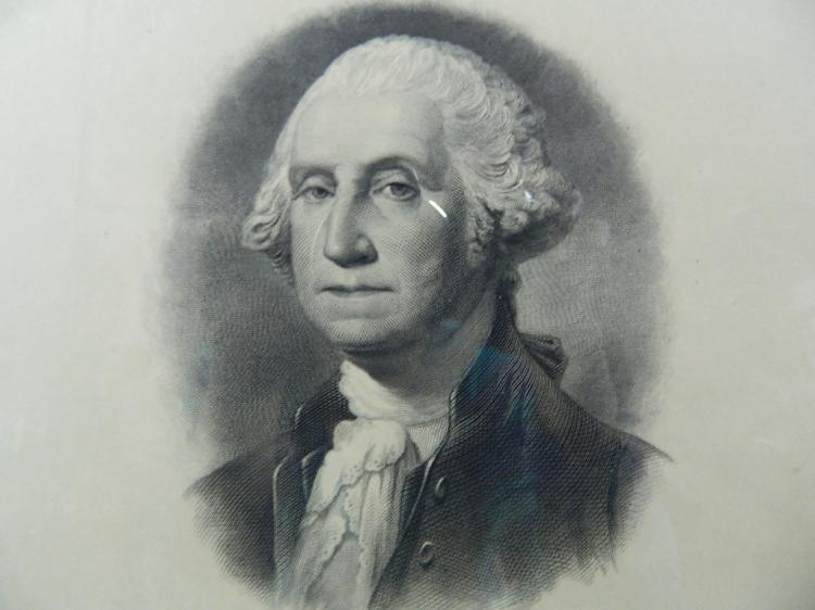 Lot 102: A Framed Picture of George Washington