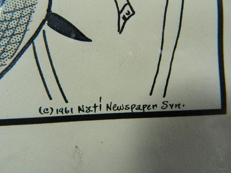 Lot 104: Signed copy of a framed Poodelina cartoon