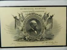 Lot 105: James Garfield Memorial Service Announcement