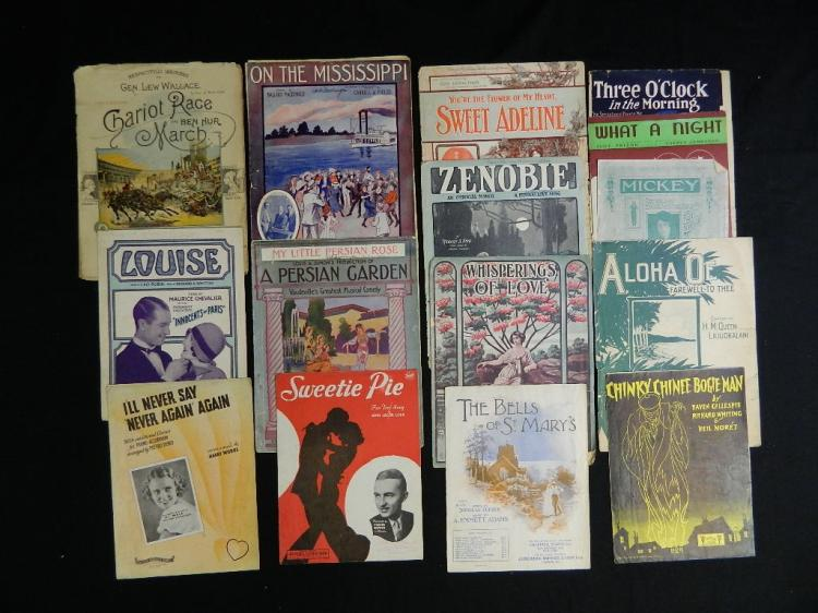 Lot 107: Lot of 23 Pieces of Vintage Sheet Music