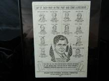 Lot 111: Framed Willkie War Veterans National Committee Ad