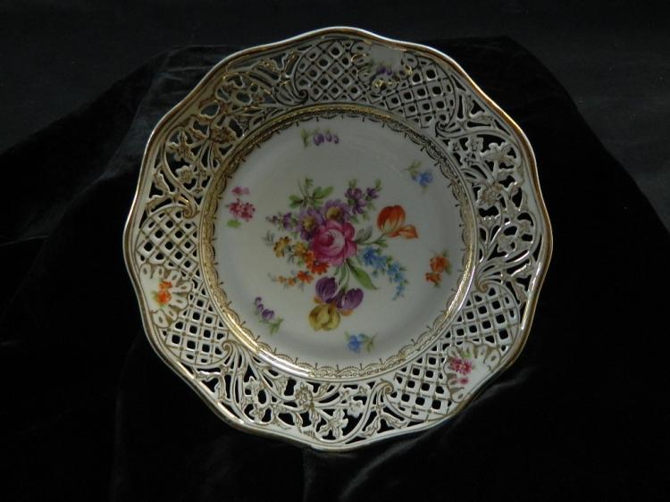 Schumann Dresden Floral Decorative Plate