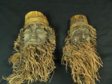Lot 120: Pair of Men Coconut Carving/ Sculpture Filipino