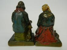 Lot 142: Vintage English Characters Darby&Joan Bookends