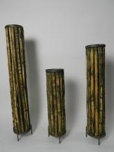 Lot 143: Set of 3 Bamboo Candle Holders from Honduras