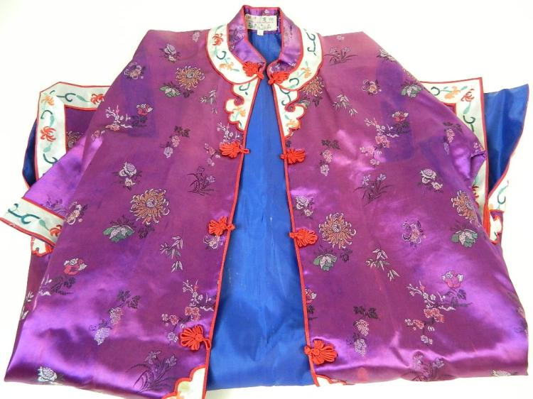 Lot 147: Chinese Dress with Slippers 40 1/2""