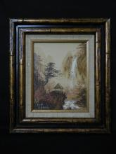 Lot 157: Framed Contemporary Japanese Oil Painting.
