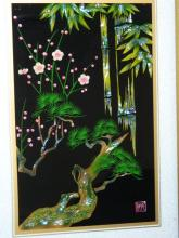 Lot 158: Japanese Inlaid Painting circa 1960