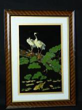 Lot 159: Japanese Inlaid Painting circa 1960
