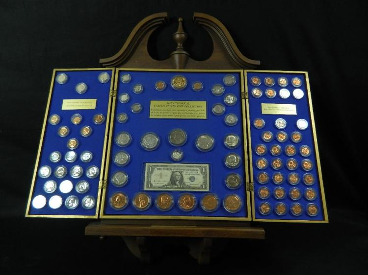 Lot 163: Vintage Lincoln Treasury Heritage of America Coins
