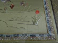 Lot 164: Green Silk Japanese Embroided Sage