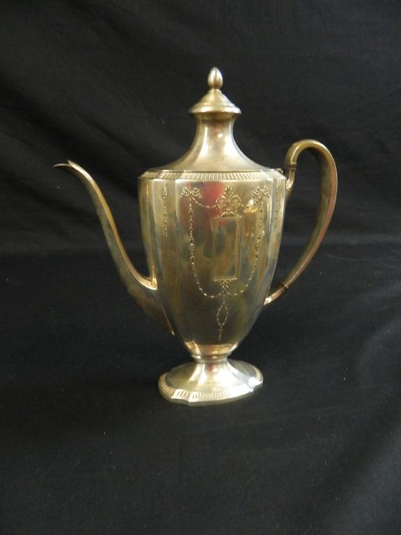 Lot 175: Antique Grosvenor by Community 4 Piece Set Silver