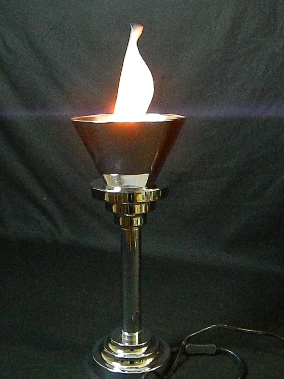 """Lot 182: 18"""" Electric Torch Table Lamp"""