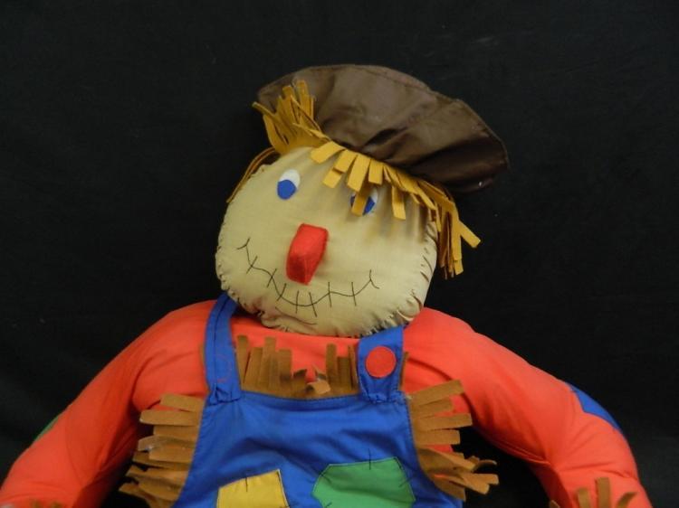 "Lot 186: 58"" Tall Stuffed Scarecrow"