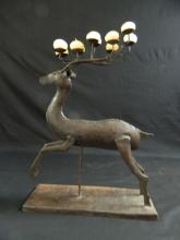 Lot 188: Decorative Reindeer Candle Holder w/ Candles