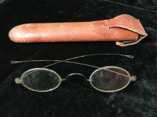 Lot 191: Antique Reading Glasses/Spectacles with Case