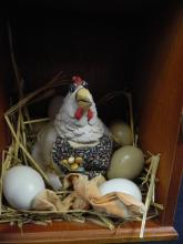 Lot 194: Hen in the Hen House - Country Art