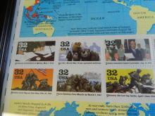 Lot 197: Twenty framed U.S Postage Stamps 1945 Victory