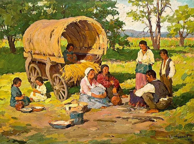 Lunch at the edge of the woods, 1936