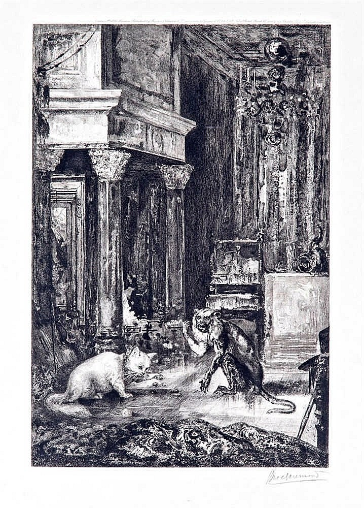 The monkey with the cat (from a La Fontaine tale), 1886