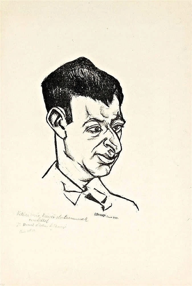 Portrait of Ivan Goll, 1924