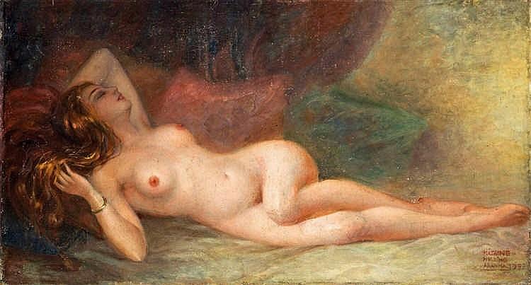 Lying nude, 1933