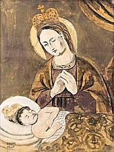 Picture of the tearful Virgin Mary